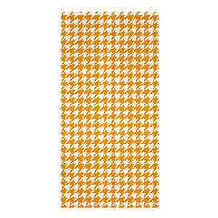 Friendly Houndstooth Pattern, Orange Shower Curtain 36  X 72  (stall)  by MoreColorsinLife