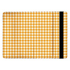 Friendly Houndstooth Pattern, Orange Samsung Galaxy Tab Pro 12 2  Flip Case by MoreColorsinLife
