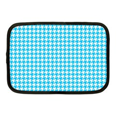 Friendly Houndstooth Pattern,aqua Netbook Case (medium)  by MoreColorsinLife