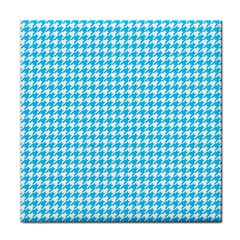 Friendly Houndstooth Pattern,aqua Face Towel