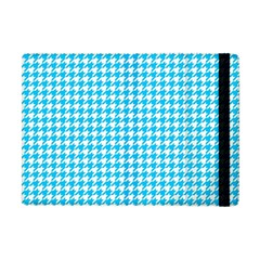 Friendly Houndstooth Pattern,aqua Apple Ipad Mini Flip Case by MoreColorsinLife