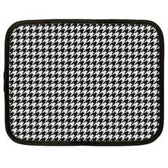 Friendly Houndstooth Pattern,black And White Netbook Case (xxl)  by MoreColorsinLife