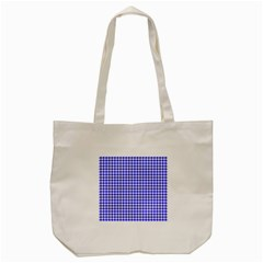 Friendly Houndstooth Pattern,blue Tote Bag (cream) by MoreColorsinLife