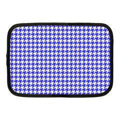 Friendly Houndstooth Pattern,blue Netbook Case (medium)  by MoreColorsinLife