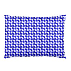 Friendly Houndstooth Pattern,blue Pillow Case by MoreColorsinLife