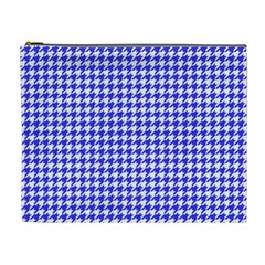 Friendly Houndstooth Pattern,blue Cosmetic Bag (xl) by MoreColorsinLife