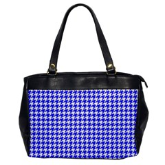 Friendly Houndstooth Pattern,blue Office Handbags