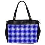 Friendly Houndstooth Pattern,blue Office Handbags Front