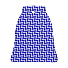 Friendly Houndstooth Pattern,blue Bell Ornament (two Sides) by MoreColorsinLife