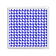 Friendly Houndstooth Pattern,blue Memory Card Reader (square)  by MoreColorsinLife