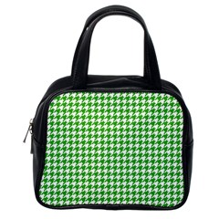 Friendly Houndstooth Pattern,green Classic Handbags (one Side) by MoreColorsinLife