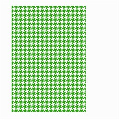 Friendly Houndstooth Pattern,green Large Garden Flag (two Sides)