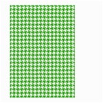 Friendly Houndstooth Pattern,green Large Garden Flag (Two Sides) Back