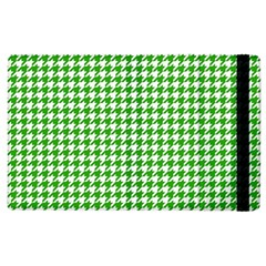 Friendly Houndstooth Pattern,green Apple Ipad 3/4 Flip Case by MoreColorsinLife