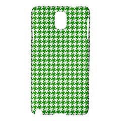 Friendly Houndstooth Pattern,green Samsung Galaxy Note 3 N9005 Hardshell Case by MoreColorsinLife