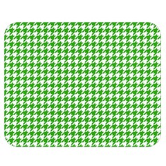 Friendly Houndstooth Pattern,green Double Sided Flano Blanket (medium)  by MoreColorsinLife