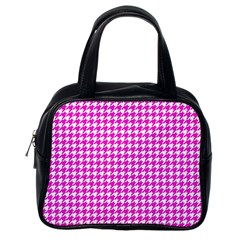 Friendly Houndstooth Pattern,pink Classic Handbags (one Side) by MoreColorsinLife