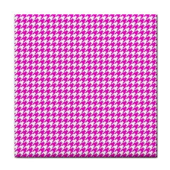 Friendly Houndstooth Pattern,pink Face Towel