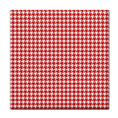 Friendly Houndstooth Pattern,red Tile Coasters