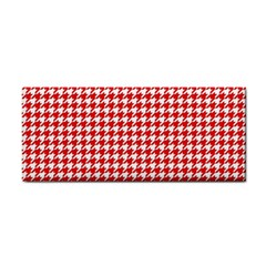 Friendly Houndstooth Pattern,red Cosmetic Storage Cases by MoreColorsinLife
