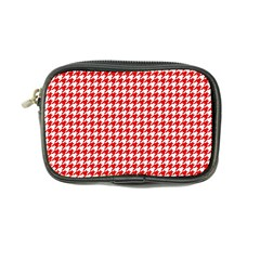 Friendly Houndstooth Pattern,red Coin Purse by MoreColorsinLife