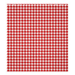 Friendly Houndstooth Pattern,red Shower Curtain 66  X 72  (large)  by MoreColorsinLife