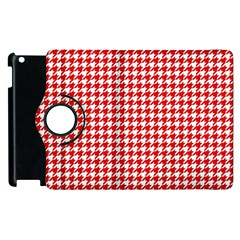 Friendly Houndstooth Pattern,red Apple Ipad 3/4 Flip 360 Case by MoreColorsinLife