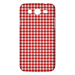 Friendly Houndstooth Pattern,red Samsung Galaxy Mega 5 8 I9152 Hardshell Case  by MoreColorsinLife