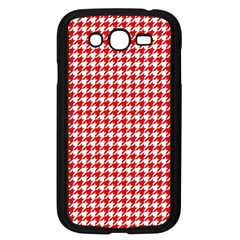 Friendly Houndstooth Pattern,red Samsung Galaxy Grand Duos I9082 Case (black) by MoreColorsinLife