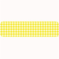Friendly Houndstooth Pattern,yellow Large Bar Mats by MoreColorsinLife