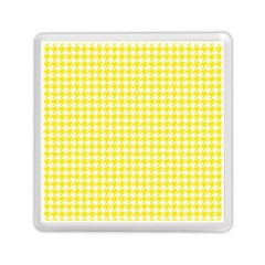 Friendly Houndstooth Pattern,yellow Memory Card Reader (square)  by MoreColorsinLife
