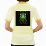 Temple Of Yoga In Light Peace And Human Namaste Style Women s Fitted Ringer T-Shirts Back