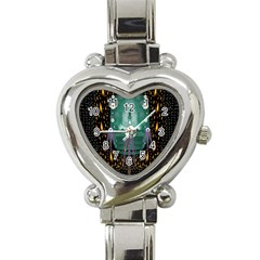 Temple Of Yoga In Light Peace And Human Namaste Style Heart Italian Charm Watch by pepitasart