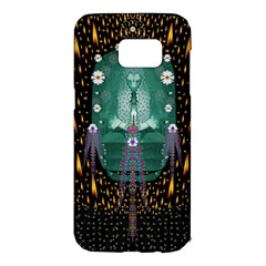 Temple Of Yoga In Light Peace And Human Namaste Style Samsung Galaxy S7 Edge Hardshell Case by pepitasart