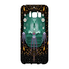 Temple Of Yoga In Light Peace And Human Namaste Style Samsung Galaxy S8 Hardshell Case  by pepitasart