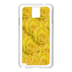 Summer Yellow Roses Dancing In The Season Samsung Galaxy Note 3 N9005 Case (white) by pepitasart