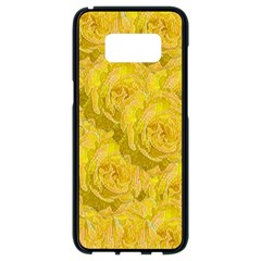 Summer Yellow Roses Dancing In The Season Samsung Galaxy S8 Black Seamless Case