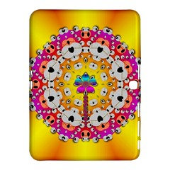 Fantasy Flower In Tones Samsung Galaxy Tab 4 (10 1 ) Hardshell Case  by pepitasart