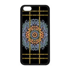Blue Bloom Golden And Metal Apple Iphone 5c Seamless Case (black) by pepitasart