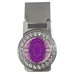 Fantasy Flowers In Harmony  In Lilac Money Clips (cz)