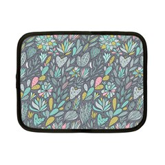 Cactus Pattern Green  Netbook Case (small)  by Mishacat