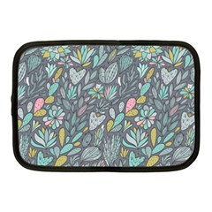 Cactus Pattern Green  Netbook Case (medium)  by Mishacat