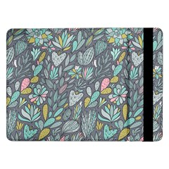 Cactus Pattern Green  Samsung Galaxy Tab Pro 12 2  Flip Case by Mishacat
