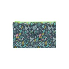 Cactus Pattern Green  Cosmetic Bag (xs) by Mishacat