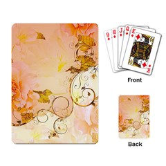 Wonderful Floral Design In Soft Colors Playing Card by FantasyWorld7