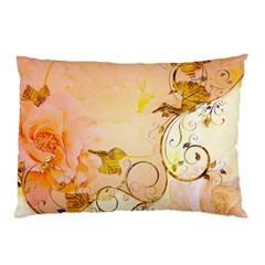 Wonderful Floral Design In Soft Colors Pillow Case by FantasyWorld7