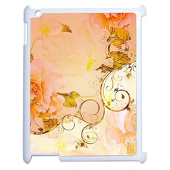 Wonderful Floral Design In Soft Colors Apple Ipad 2 Case (white) by FantasyWorld7