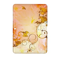 Wonderful Floral Design In Soft Colors Samsung Galaxy Tab 2 (10 1 ) P5100 Hardshell Case  by FantasyWorld7
