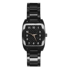 Brick1 Black Marble & Gray Stainless Steel Barrel Watch by trendistuff