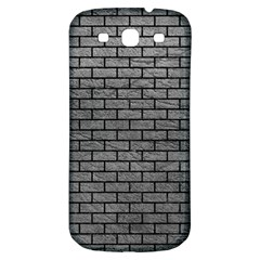 Brick1 Black Marble & Gray Leather (r) Samsung Galaxy S3 S Iii Classic Hardshell Back Case by trendistuff